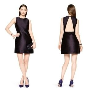 Kate Spade black silk backless cocktail dress 00